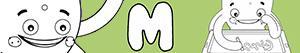 M harfi ile erkekler isimleri boyama