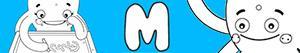 M harfi ile kızlar isimleri boyama