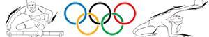 Olimpik sporları. Atletizm. Jimnastik. Kombine olaylar boyama